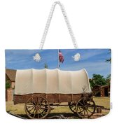 Covered Wagon At Fort Bluff Weekender Tote Bag