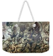 Covered Wagon Attacked By Indians Weekender Tote Bag