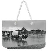 Covered Wagon River Ford And Cable Ferry 1903 Weekender Tote Bag