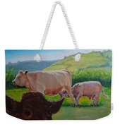 Cow And Calf Painting Weekender Tote Bag