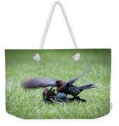 Cow Bird Fight Weekender Tote Bag
