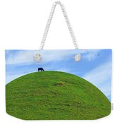 Cow Eating On Round Top Hill Weekender Tote Bag