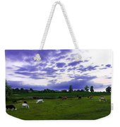 Cow Field Weekender Tote Bag