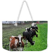 Cow Line Up Weekender Tote Bag