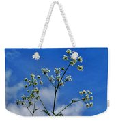 Cow Parsley Blossoms Weekender Tote Bag
