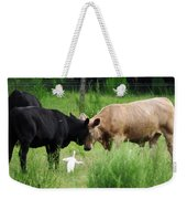 Cow Playing Head Games Weekender Tote Bag