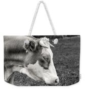 Cow Portrait Weekender Tote Bag