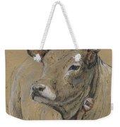 Cow Portrait Painting Weekender Tote Bag