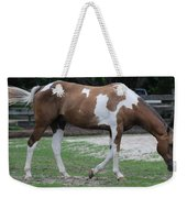 Cow Spotted Horse Weekender Tote Bag