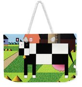 Cow Squared With Barn Big Weekender Tote Bag