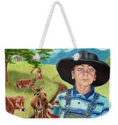 Cow Tagging Weekender Tote Bag