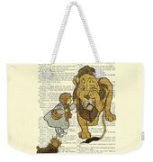 Cowardly Lion, The Wizard Of Oz Scene Weekender Tote Bag