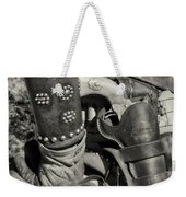 Cowboy And Six Shooter Bw Sepia Weekender Tote Bag