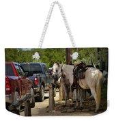 Cowboy Cars Weekender Tote Bag