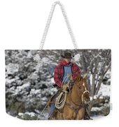 Cowboy Christmas Weekender Tote Bag