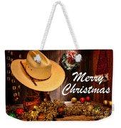 Cowboy Christmas Party - Merry Christmas Weekender Tote Bag