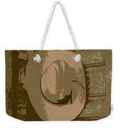 Cowboy Hangs It Up Square Format 1 Weekender Tote Bag