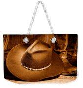 Cowboy Hat - Sepia Weekender Tote Bag