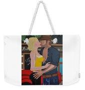 Cowboy Kiss Weekender Tote Bag