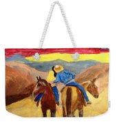 Cowboy Kisses Cowgirl Weekender Tote Bag