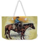 Cowboy N Sunset Weekender Tote Bag