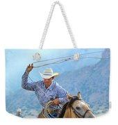 Cowboy Roping A Steer Weekender Tote Bag