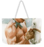 Cowboy Watercolor Weekender Tote Bag