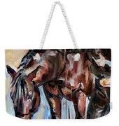 Cowboy With His Horse Weekender Tote Bag