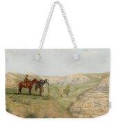 Cowboys In The Badlands Weekender Tote Bag by Thomas Cowperthwait Eakins