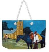 Cowboy's Prayer Weekender Tote Bag