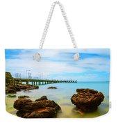 Cowes Pier Weekender Tote Bag