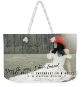 Cowgirl Red Quote Weekender Tote Bag