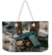 Cowgirl Shabby Chic Weekender Tote Bag