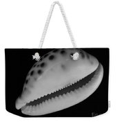 Cowry Shell In Black And White Weekender Tote Bag