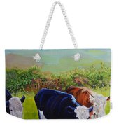 Cows And English Landscape Weekender Tote Bag