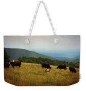 Cows At Doughton Park Weekender Tote Bag