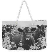 Cows In Black And White Weekender Tote Bag