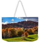 Cows In Pomfret Vermont Fall Foliage Weekender Tote Bag