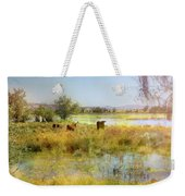 Cows In The Desert Weekender Tote Bag