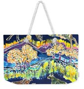 Cows Jumping Over The Moon Weekender Tote Bag by Carol  Law Conklin