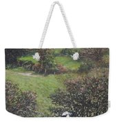 Cows Sitting By Hill Relaxing Weekender Tote Bag
