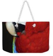 Coy Scarlet Macaw Weekender Tote Bag