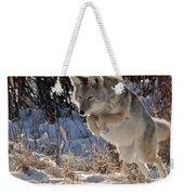 Coyote In Mid Jump Weekender Tote Bag