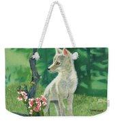 Coyote Pup Weekender Tote Bag by Terry Lewey