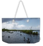 Ominous Clouds Over A Cozumel Mexico Swamp  Weekender Tote Bag