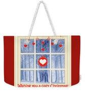 Cozy Christmas Card Weekender Tote Bag