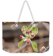 Crab Apple Buds Weekender Tote Bag