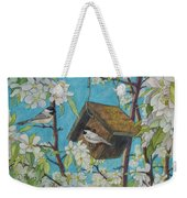 Crabapple Chickadees Weekender Tote Bag