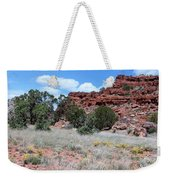 Cracked Earth And Yellow Flowers Weekender Tote Bag
