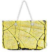 Cracked Yellow Paint Weekender Tote Bag